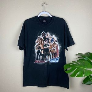 WWE Shirt Wrestlemania Large Black Shirt Top